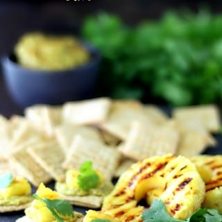Grilled Pineapple Avocado Hummus Bites
