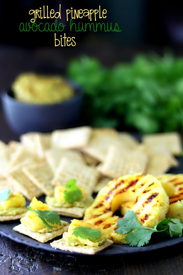 Grilled Pineapple... juicy and sweet- the absolute perfect pairing with creamy Avocado Hummus and savory TRISCUIT Crackers!