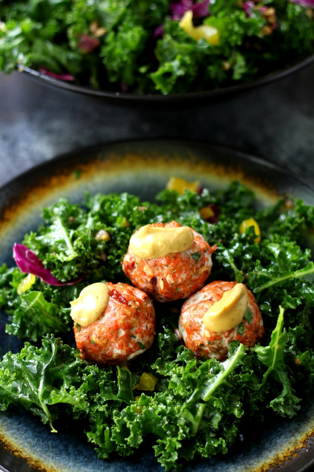 Southwestern Salmon Meatballs with Creamy Chipotle Sauce- a delicious, flavorful twist on the classic meatball with the perfect kick of spice! (gluten free and healthy)