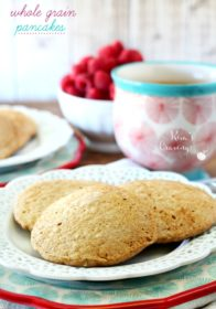 Creating healthy, low-fat, whole grain pancakes that are light and fluffy is not an easy feat, but with the right balance of ingredients, it can be done!
