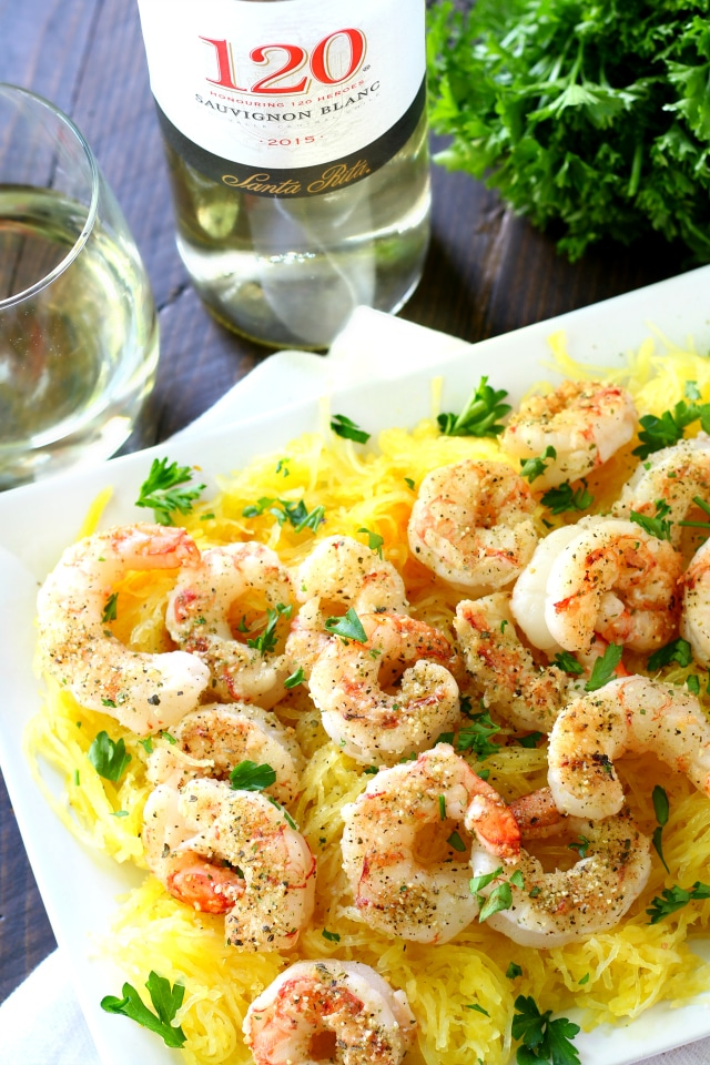 Fire up that grill! These crowd-pleasing grilled shrimp over spaghetti squash are light, easy and so delicious!