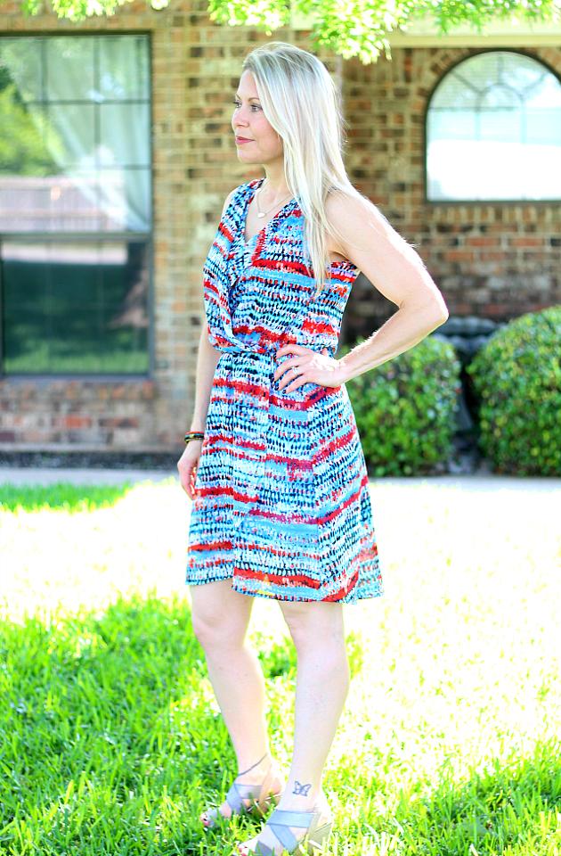 June 2016 Stitch Fix Review- Terresa V-neck Dress by Le Lis