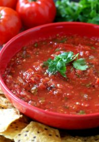 The Best Damn Roasted Salsa is SUPER easy, quick, fresh and delicious with a lovely complex smoky flavor that can't be beat!