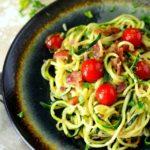 Easy Bacon Tomato Zucchini Noodles