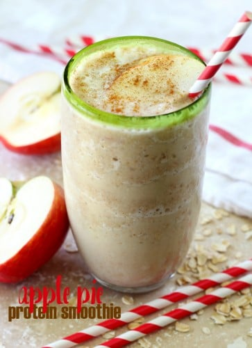 It's September and I think we can officially say it's apple season. What better way to celebrate than with this irresistible Apple Pie Protein Smoothie!