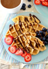 Low Carb Protein Waffles- this breakfast recipe is so simple, easy and healthy, but the best part is how out-of-this world delicious it is!