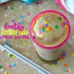 Healthy Birthday Cake Protein Smoothie + Blendtec Giveaway