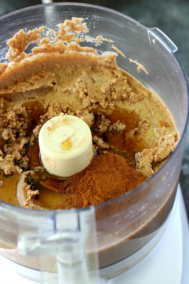 This recipe for an easy homemade Maple Cinnamon Almond Butter just might be the world's BEST almond butter recipe. This stuff is addicting, y'all! I dare you to not eat this yummy stuff by the spoonfuls, straight out of the jar!!