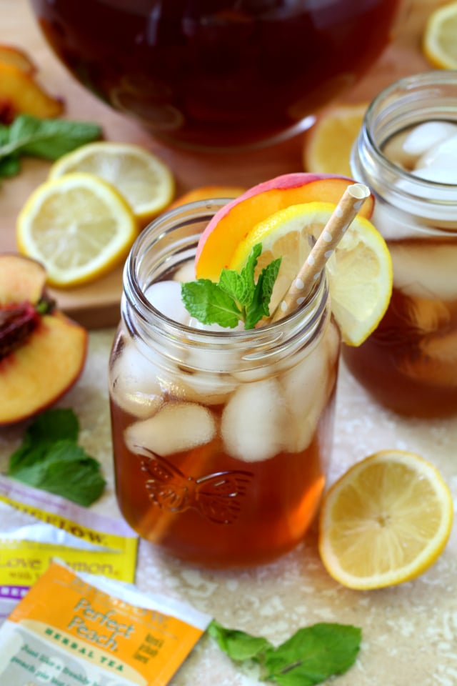 Peach Lemon Iced Tea Kim S Cravings