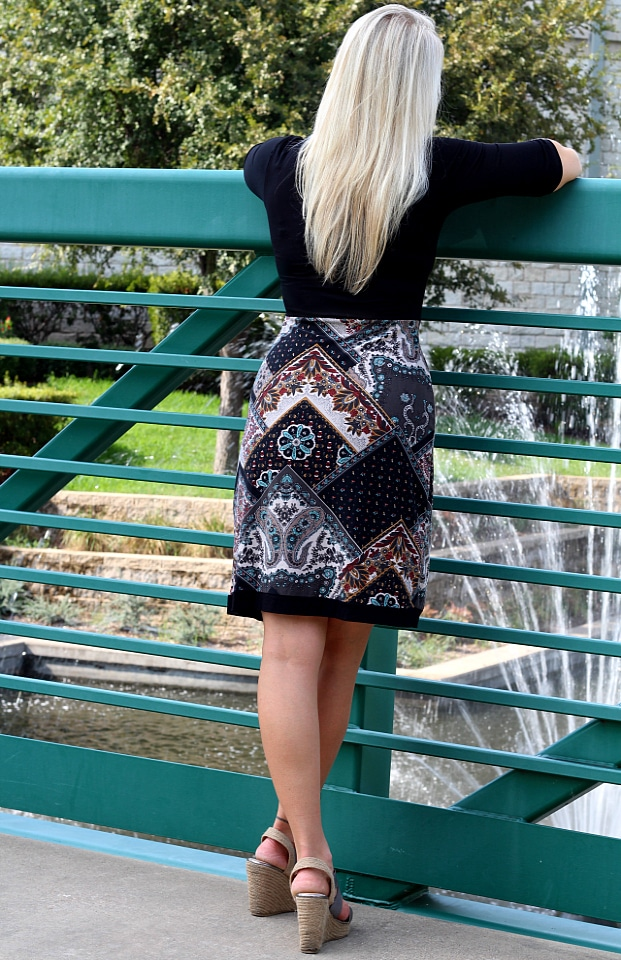 September 2016 Stitch Fix Review- Annetta Knit Dress by Le Lis   S   68.00