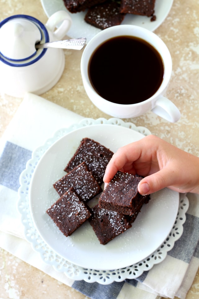 These Healthy Espresso Brownies are naturally gluten free, made with healthier ingredients and have the most over-the-top delicious espresso flavor, that cannot be denied!