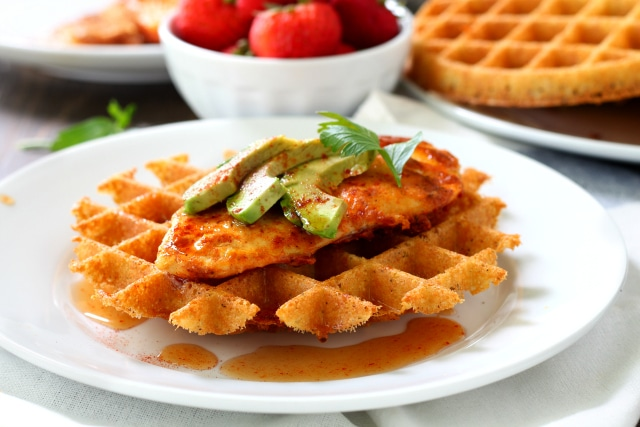 What is more delicious than a meal that includes chicken and mashed potatoes? One that includes Healthy Chicken and Mashed Potato Waffles, that's what!