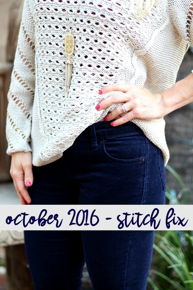 October 2016 Stitch Fix Review