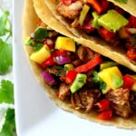 Slow Cooker Carnitas with Mango Avocado Salsa