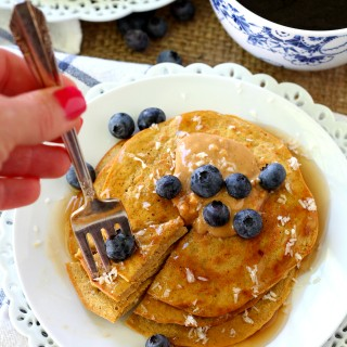 Flourless Pumpkin Protein Pancakes