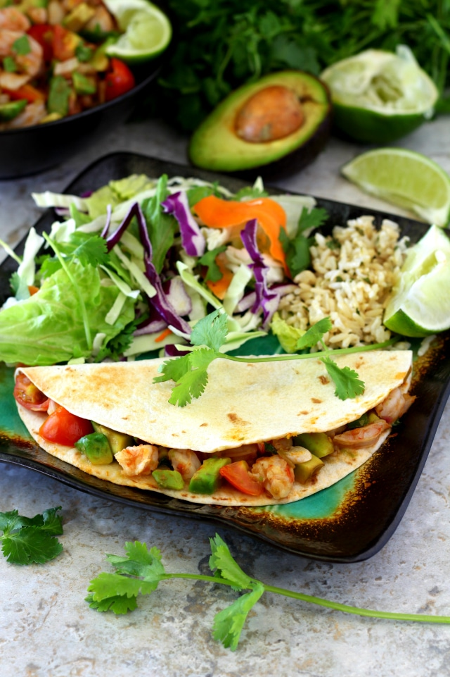 There are so many ways to enjoy this flavorful, guilt-free Shrimp Avocado Salsa. Serve it up as a dip with tortilla chips, stuff it in taco shells or cook it quesadilla-style!