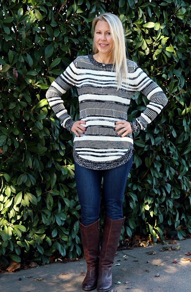 December 2016 Stitch Fix Review- Finlee Striped Pullover by Market & Spruce | 68.00
