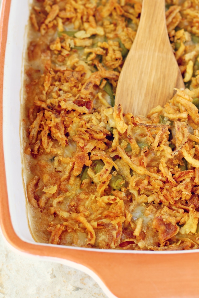 My Grandma's Easy Green Bean Casserole might be the simplest dish on the dinner table, but it should not be overlooked! It seriously could not be tastier!