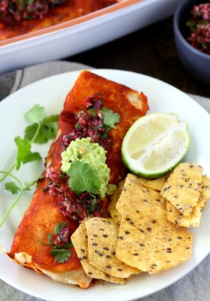 The only thing tastier than a leftover turkey and cranberry sauce sandwich is this batch of Leftover Turkey Butternut Squash Enchiladas. (gluten-free & dairy-free)