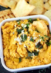 Warm Butternut Squash Feta Dip is one of those dips that's gone in a flash. Guaranteed! Creamy, cheesy and warm this fall-inspired app is a keeper for sure!