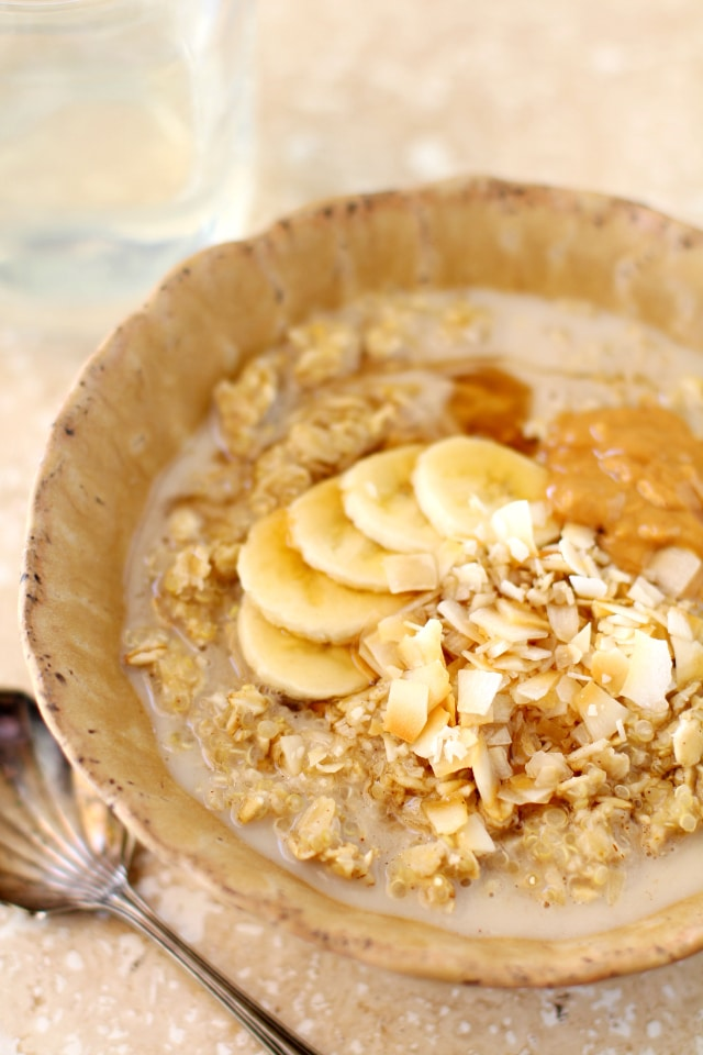Cold mornings call for a warm, hearty, cozy bowl of Detox Quinoa Oatmeal Porridge. You guys are going to love this breakfast recipe - thick, creamy and full of delicious flavor!
