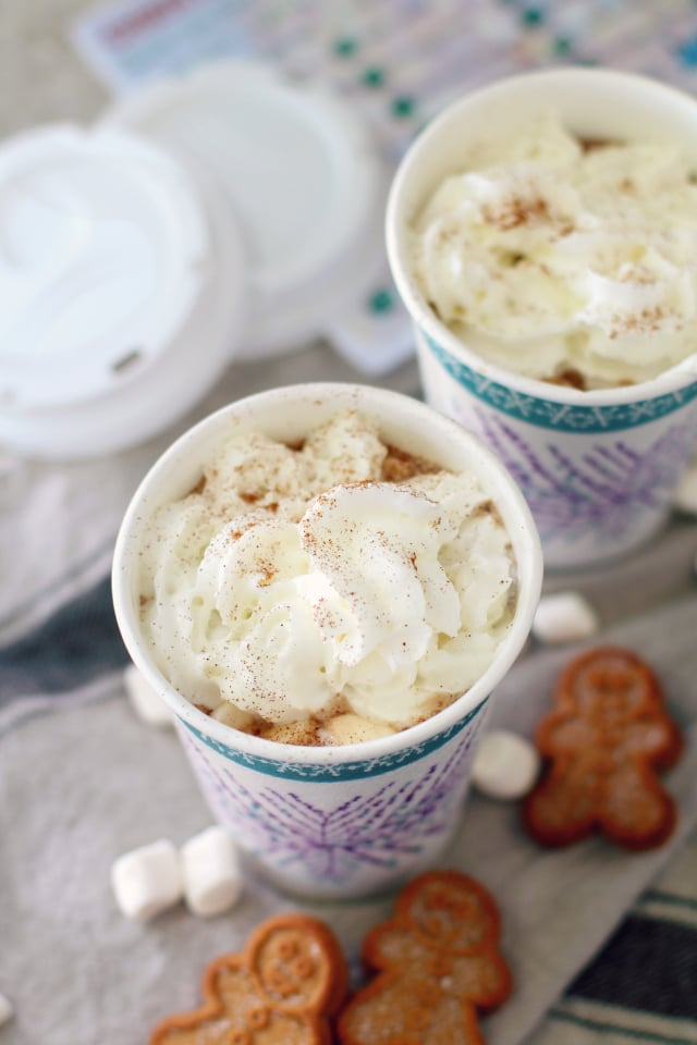 This healthier homemade gingerbread hot cocoa is wonderful for chilly mornings or frosty afternoons!