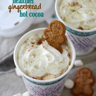 Gingerbread Hot Cocoa (Naturally Sweetened) + A Christmas Light Scavenger Hunt