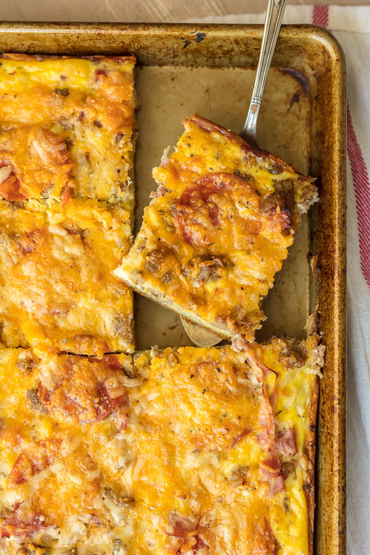 meat lovers breakfast pizza is the perfect christmas morning breakfast recipe loaded with pepperoni - Best Christmas Breakfast