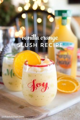 Vanilla Orange Slush- orange juice jazzed up for Christmas morning!