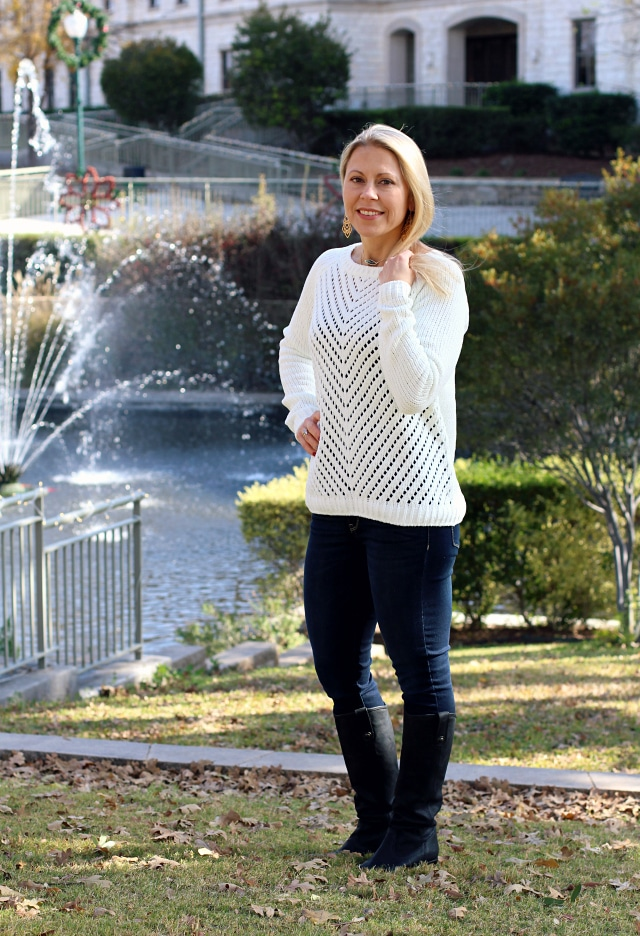 January 2017 Stitch Fix Review- Phoebee Perforated Front Pullover by Evolution by Cyrus | 68.00