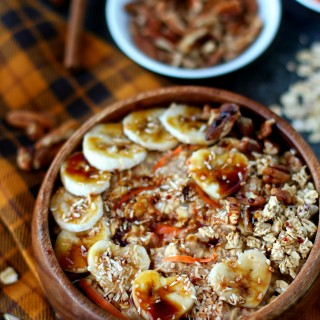 Carrot Cake Protein Overnight Oatmeal
