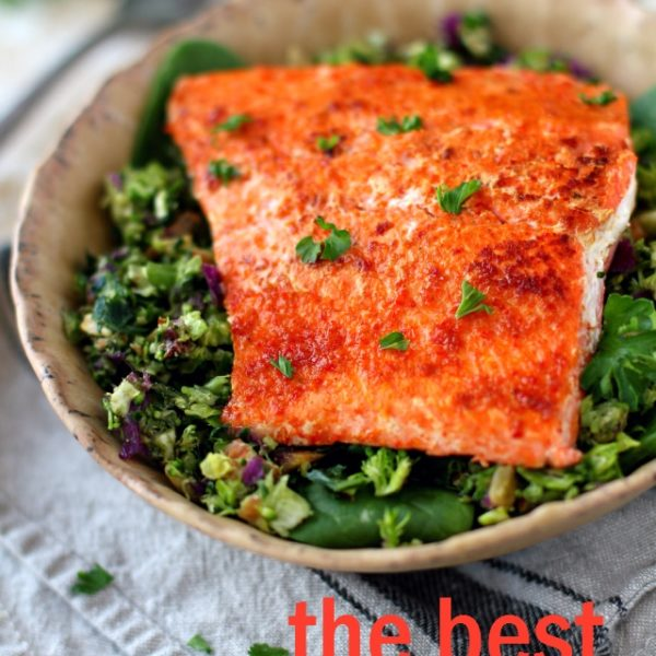 Pan-fried salmon makes a weeknight meal that is easy enough for the busiest of nights while being elegant enough for entertaining.