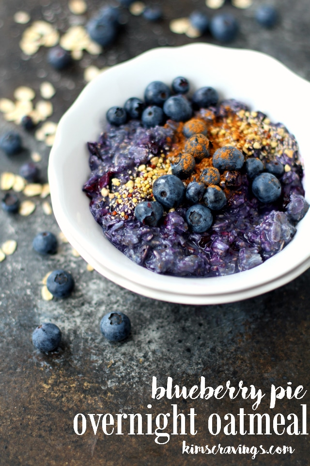Freshen up your morning routine by prepping Blueberry Pie Overnight Oatmeal the night before. You'll wake up to a healthy, satisfying breakfast that's ready to go when you are and a whole lot of deliciousness!
