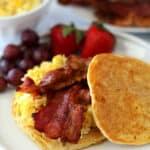 Bacon Egg Pancake Breakfast Sandwiches
