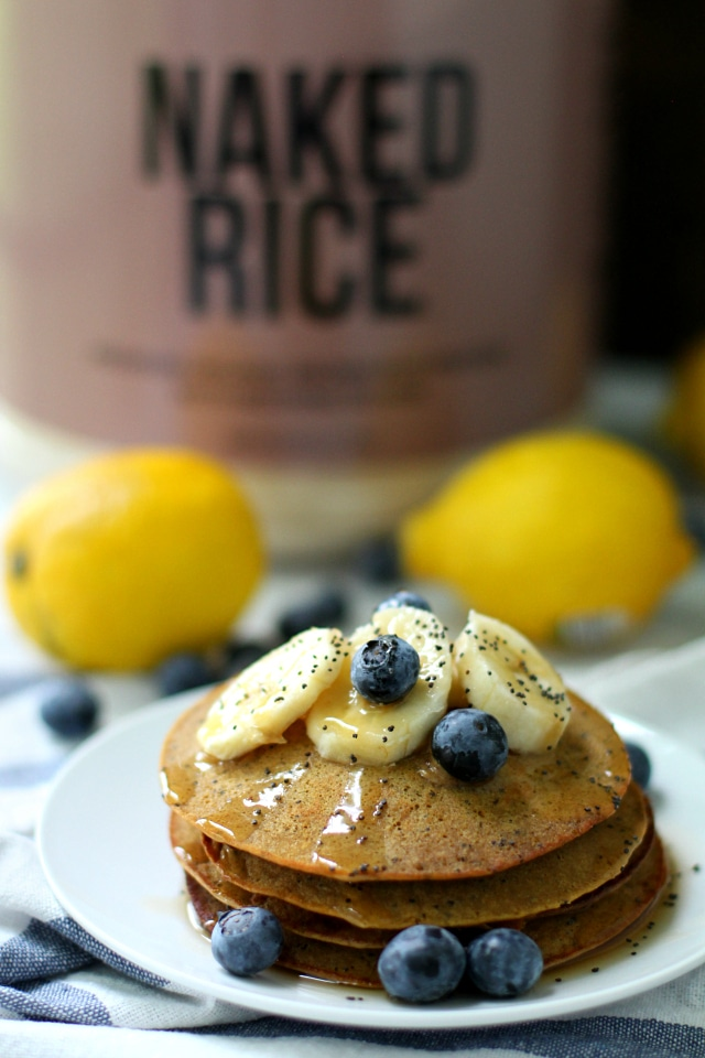 Lemon Poppy Seed Protein Pancakes! Hello quick, yummy, protein-packed breakfast.