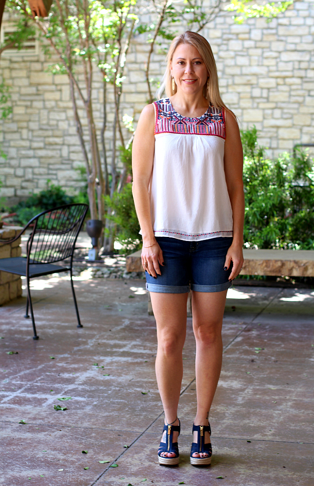 May 2017 Stitch Fix Review - Alina Roll Cuff Short by Big Star | 2/26 | 74.00