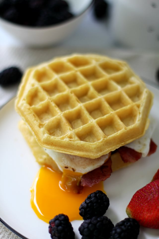 The frozen waffle is a blank canvas begging to be topped with your favorite ingredients. To get your creative juices flowing, enjoy my most recent ideas for 3 Fun Frozen Waffle Hacks.