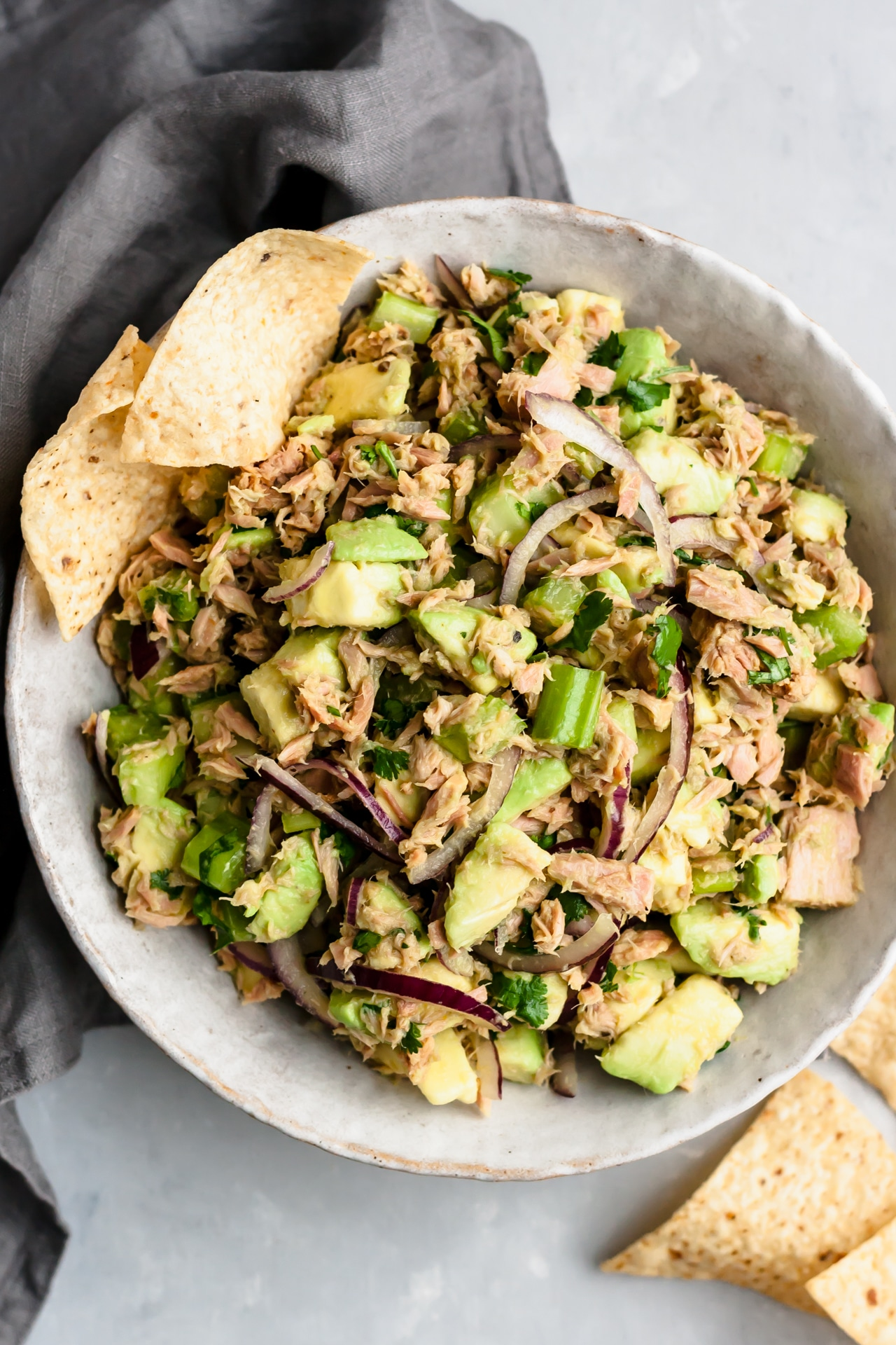 Easy Avocado Tuna Salad Video Kim S Cravings