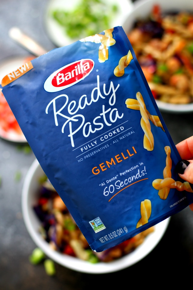 Barilla Ready Pasta makes this Quick Lo Mein Pasta the easiest!