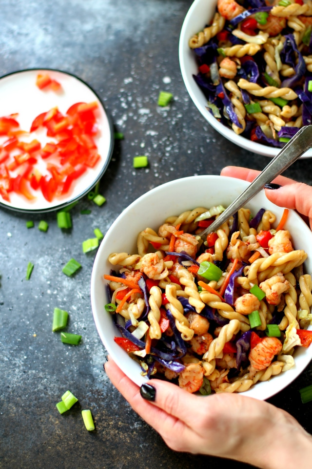 Life is stressful – dinner shouldn't be. This Quick Lo Mein Pasta recipe is my go-to for a delicious Asian noodle stir fry meal. It's way tastier and healthier than take-out!