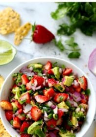 Strawberry Salsa with Avocado