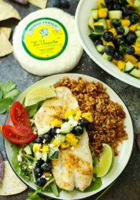 It's grilling season and I could not be happier about it! Fresh off the grill is Orange Roughy with Blueberry Mango Salsa. It's everything you could want in a summer meal - light, fresh and flavorful.