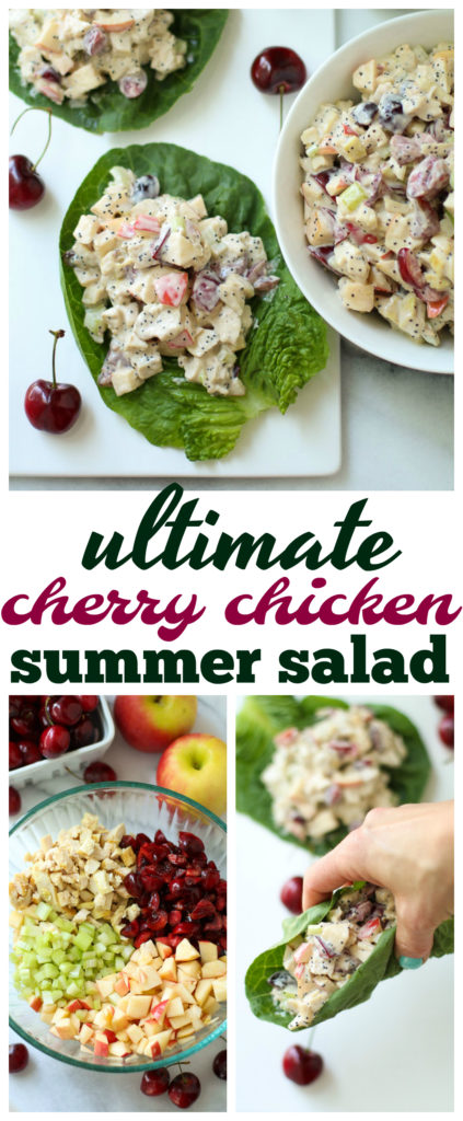A new twist on classic chicken salad, this Ultimate Cherry Chicken Summer Salad is a light, fresh, delicious meal that is so easy to throw together!