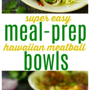 Make these Hawaiian Meatball Meal Prep Bowls ahead of time and you'll have FOUR work lunches ready and waiting!