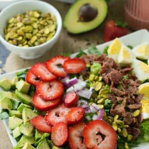 Whole30 Strawberry Cobb Salad