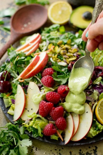 Avocado Berry Salad - A fresh, fruity, flavorful salad that's so easy to whip up and absolutely the perfect summer lunch. (paleo, gluten-free & Whole30 approved)
