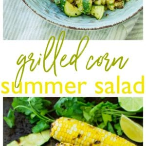 If you're looking for a fresh side dish for your next barbecue, look no further! This Grilled Corn Summer Salad is crisp, flavorful, loaded with veggie goodness and topped with a tasty cilantro lime vinaigrette.