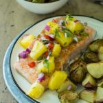 One Pan Cajun Salmon Topped With Pineapple Salsa