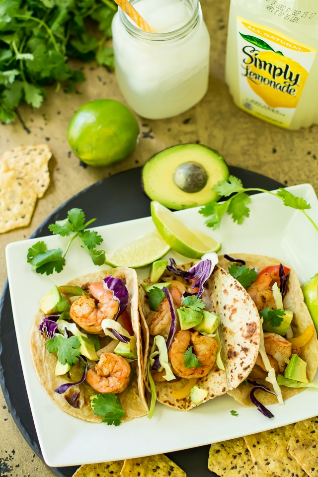 Grilled Shrimp Fajita Foil Packetsare so easy and delicious. Perfectly cooked in foil - juicyshrimp,tender bell peppers and onions can be wrapped into a warm tortilla for a super fast dinner, that's packed with incredible flavor!