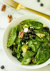 Blueberry Pecan Quinoa Salad - a healthy, filling salad tossed in a sweet and tangy balsamic vinaigrette, creating the perfect blend of flavors!